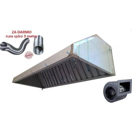 Okap Gastronomiczny 250x70x40 Filtry Turbina