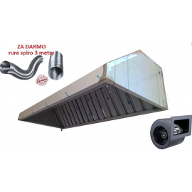 Okap Gastronomiczny 300x70x40 Filtry Turbina