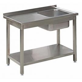 Stół Gastronomiczny 125x60x85 Zlew Półka Spawany