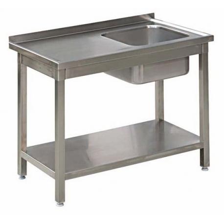 Stół Gastronomiczny 250x60x85 Zlew Półka Spawany