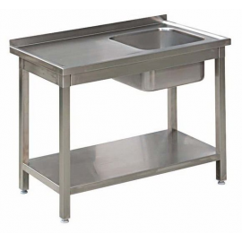 Stół Gastronomiczny 300x60x85 Zlew Półka Spawany