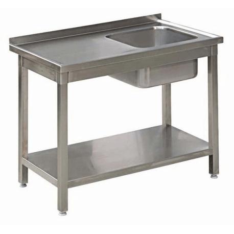 Stół Gastronomiczny 100x50x85 Zlew Półka Spawany