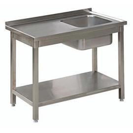 Stół Gastronomiczny 125x50x85 Zlew Półka Spawany